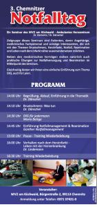 3. Chemnitzer Notfalltag Flyer 2. Seite