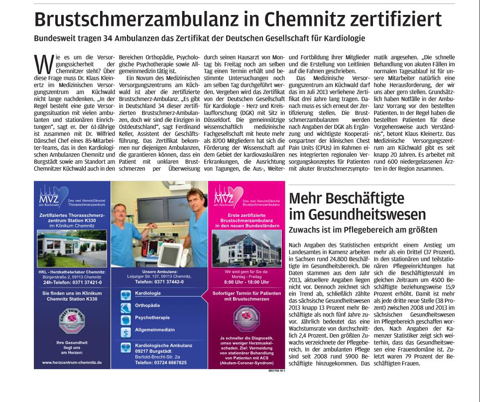 Freie Presse; Rochlitz 39.9.13