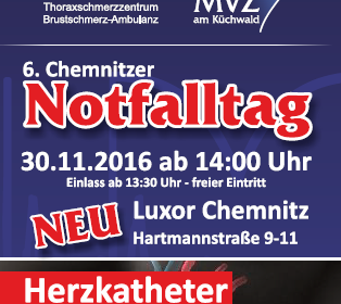 6. Chemnitzer Notfalltag – Luxor Chemnitz (Achtung: geänderter Veranstaltungsort) am 30.11.2016